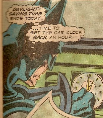Que pedo con ese reloj, el Batimovil requiere de un nuevo reloj con urjencia.